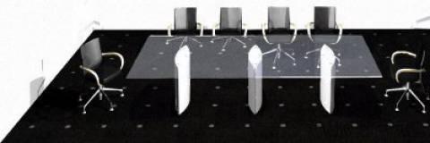 circon s 级-3x1m-会议桌玻璃顶