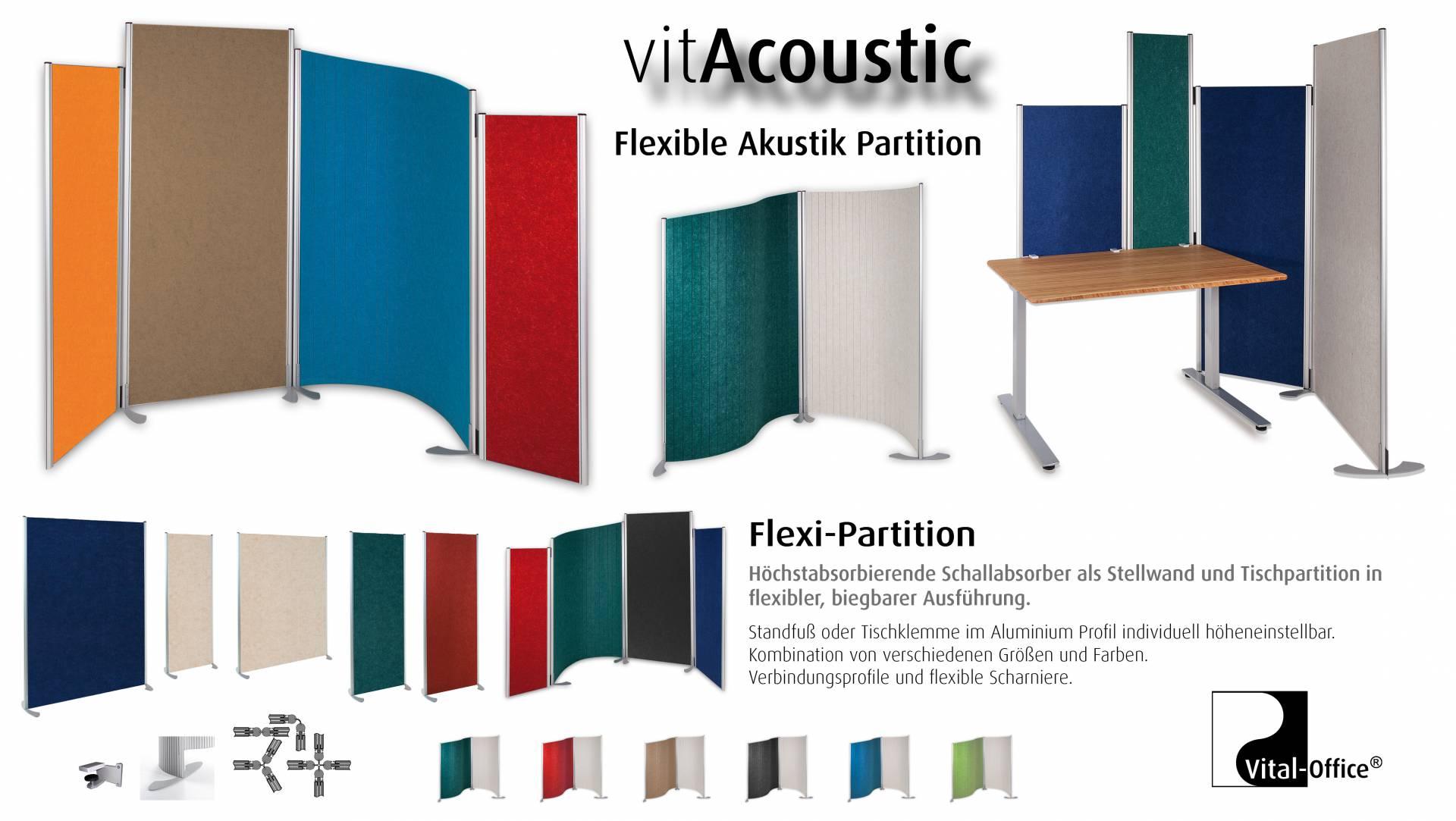 Vital-Office Schallabsorbierende Akustik Stellwand