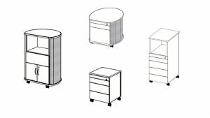 Pedestals and Caddies programm overview