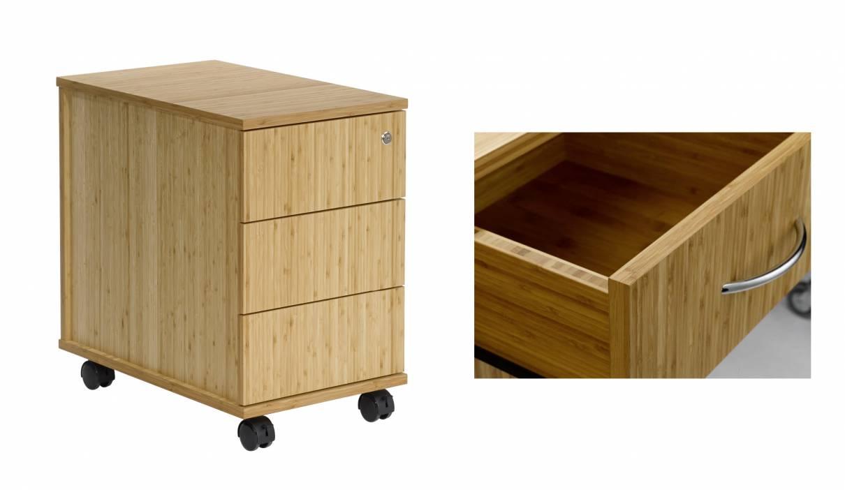 Bamboo Office Design Pedestal