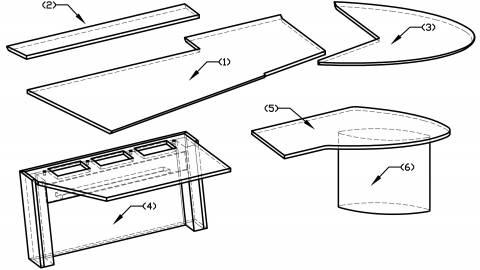 circon 行政射流-行政办公桌-设计氛围铝