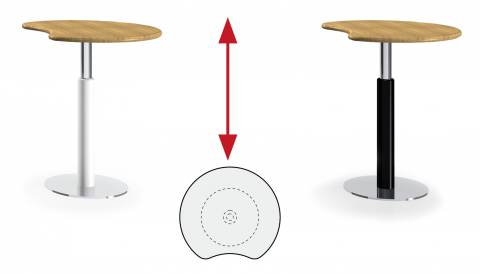Bamboo adjustable meeting table A09