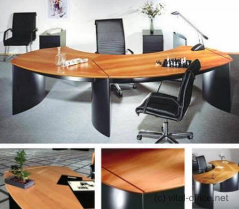 circon 行政经典-行政办公桌-高贵的布莱克与欧洲樱桃树、 梨树瑞士和 Scamore 树