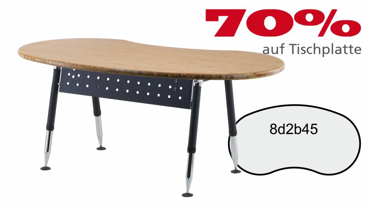 Verkauft: Schreibtisch 8d2b45 in ***40mm Bambus Massivholz 1910x1005x40mm