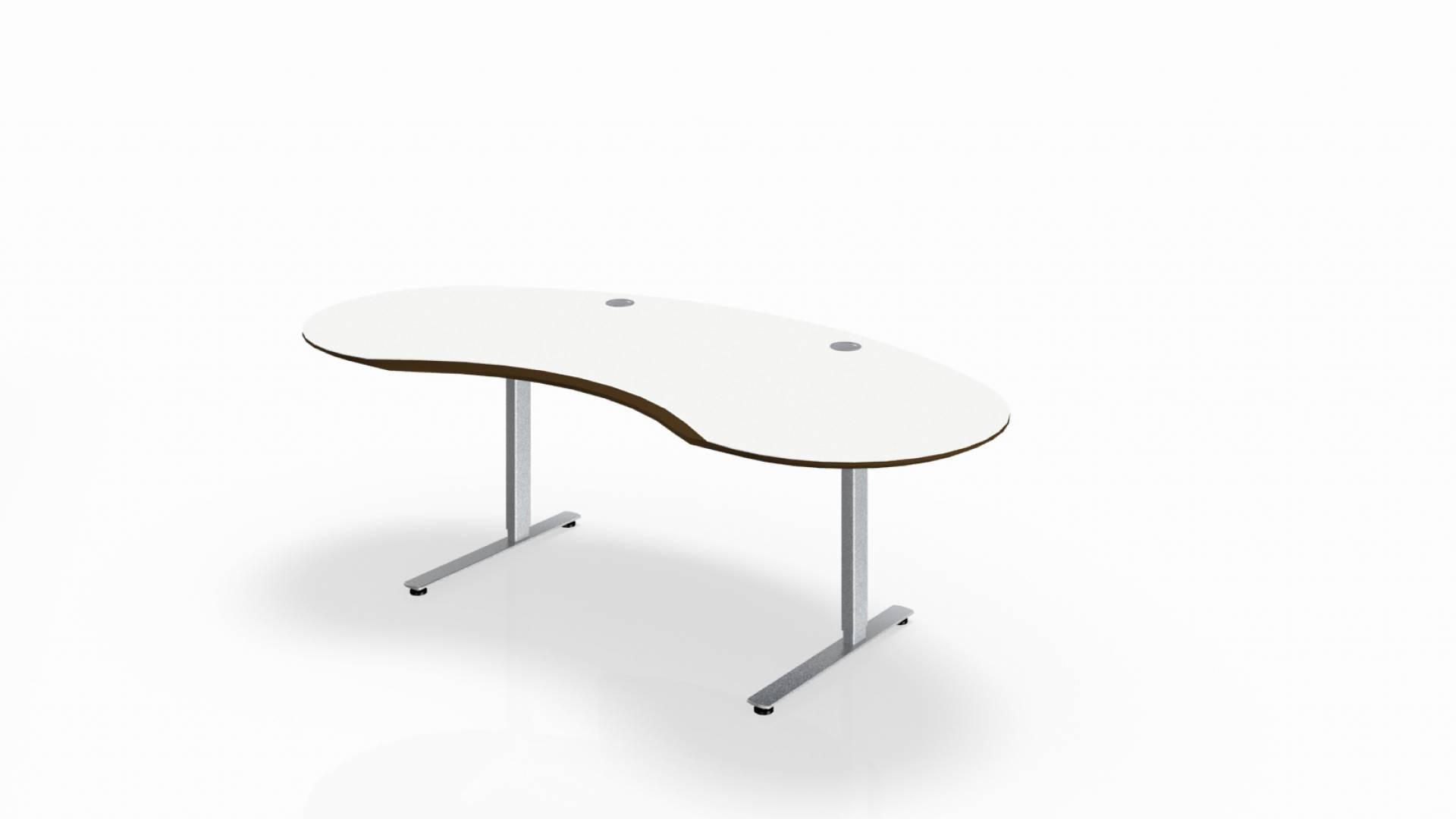 Steh sitz schreibtisch joker rund in dekor vital office for Schreibtisch rund