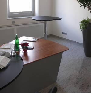 circon 行政命令-办公桌-桃花心木和抛光铬