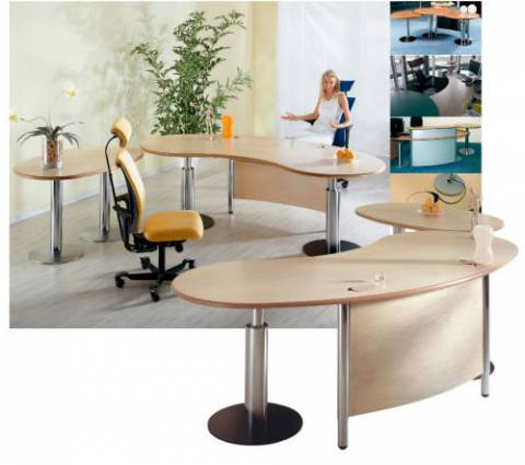 desks - infinity design c-style - Elegant cable management