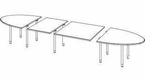 Variconferenz-可变会议表作为椭圆或船表与圆腿