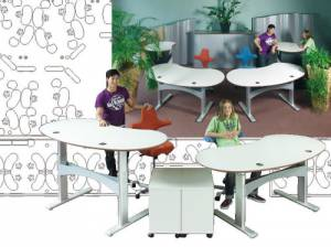 desks - Powerlift - Ergonomic adjustable frames for sitting and stand-up working.