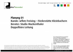 Planung für Ergonomiestudio Muckenthaler - Kunde: wfbm Freising - Förderstätte Kleinbachern