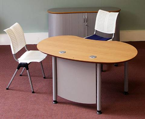 desks - infinity design e-style - Protection with wood panel