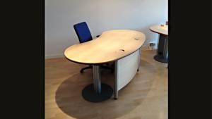 VERKAUFT - Schreibtisch Workplace Desk 8d2b45-MCP 1910x1005mm mit Protektion/Sichtblende