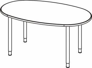 Variconferenz-可变会议表椭圆形圆形腿