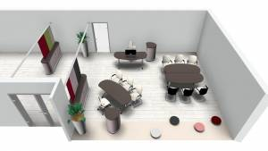 Büroplanung | Flexi-Konferenztische für Kunde aus Japan