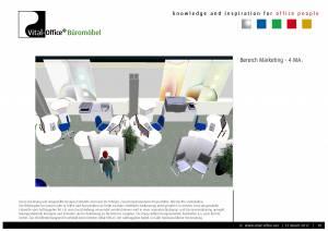 Büroplanung   Einrichtungskonzept für 28 Mitarbeiter
