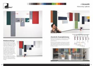Vital-Office Akustik: Schallabsorbierende Kasetten und Flächenvorhänge
