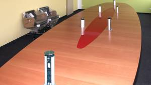 circon s-class - 7x2m - Conference table with mini notebook media control for Media Markt, Ingolstadt