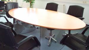 circon s 级-高尚代表椭圆形会议桌瑞士梨木材单板