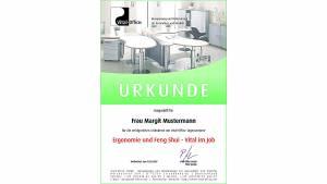 17.11.2007 Hamburg - Tagesseminar Ergonomie und Feng Shui - Vital im Job
