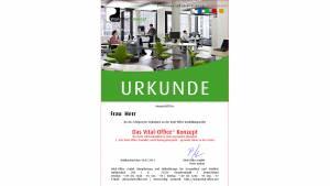 """08.03.2012 - Ausbildungsreihe:  2.  """"Die Vital-Office Produkte und Planungsbeispiele"""" .. gesunde Büros in der Praxis"""