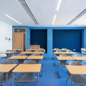 Eurocampus Lycee Francais - acoustic optimized school