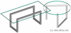 circon 行政玻璃经典-行政办公桌-包豪斯设计
