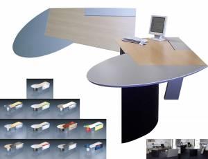 circon 行政射流-行政办公桌-现代团队和合作工作站