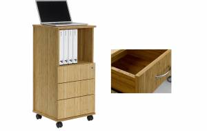 Bamboo multipurpose Caddy with 3 drawers (Sitwell collection)