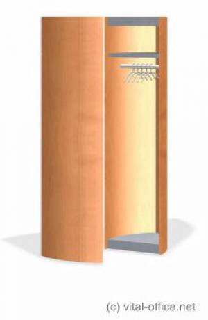 Mobile wardrobe, movable and hinged