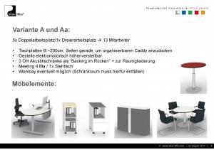 Büroplanung   Großraum-Gruppenbüro DTM-01 für DK Büro und Wohndesign GmbH