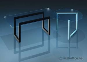 circon 行政玻璃经典-行政办公桌-玻璃表设置︰