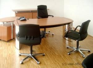 circon 行政经典-行政办公桌-与瑞士梨树抛光铬