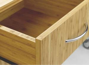 Bamboo Design Sideboard with doors, 2 drawers and add-on top. (Sitwell collection)