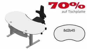 Verkauft: Schreibtisch 8d2b45 in grauweiß mit Motorgestell 1910x1005mm