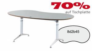 Verkauft: Schreibtisch 8d2b45 in Aludekor (grau) 1910x1005mm